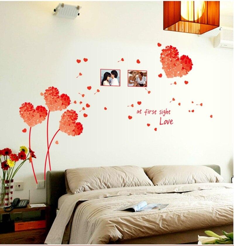 tienda online de moda de sof del dormitorio de fondo decoracin de la pared pegatinas habitacin de matrimonio romntico pegatinas de pared