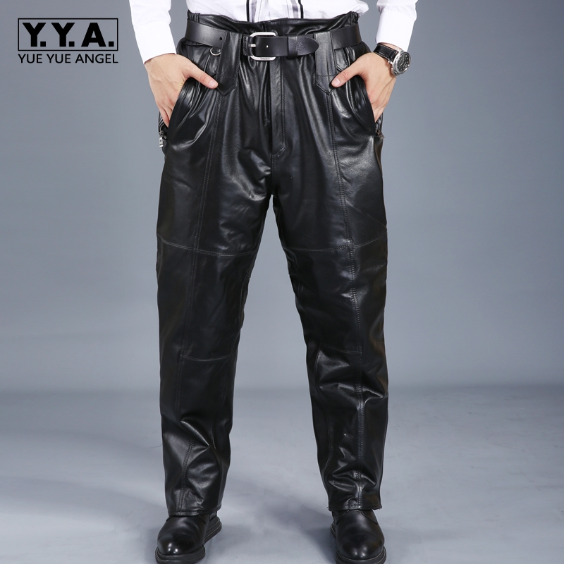 YueYueAngel 2018 Mens Male Trousers Winter Plus Size