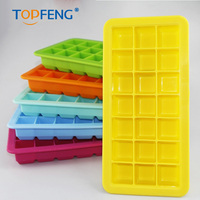 TOPFENG Diy Silicone Square Soft Ice Cube Cream Tray Maker Jelly Pudding Mould Mold Plastic Lip