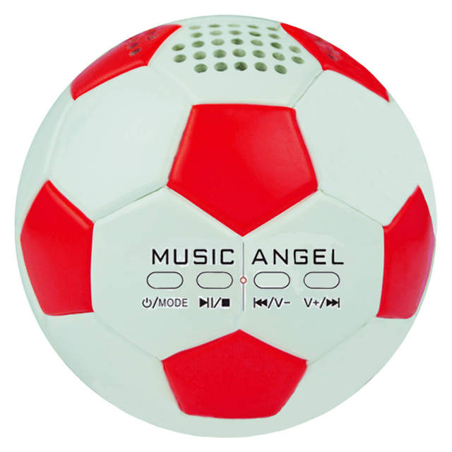 Bluetooth Speakers Music Angel JH-ZQBT3 Mini Football Super Bass Stereo mp3  player Hi-Fi Wireless support TF/ Micro SD card AUX