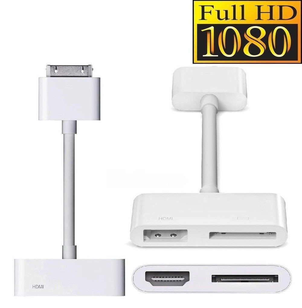 30Pin Dock Connector Digital AV Adapter to HDMI With Charging Port iPad iPhone