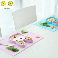 Waterproof Silicone Baby Dish Plate Mat Placemat Kids Children Tableware Pads Set Baby Bowl Plate Pad