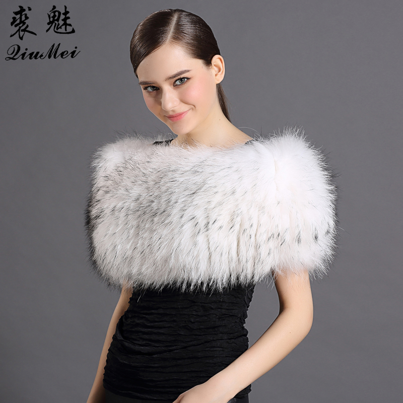 Женская шаль из лисьего меха зимние теплые плечевые шарфы эластичный натуральный мех палантин элегантные роскошные женские меховые шали д