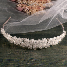 Handmade Silver bridal headband full crystal bridal hairbands vintage wedding hair accessories bridal headpiece Prom Crown