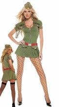 Señora traje de halloween nueva sexy luru navy soldado role playing dress mujeres cosplay maquillaje de fiesta traje b-3973