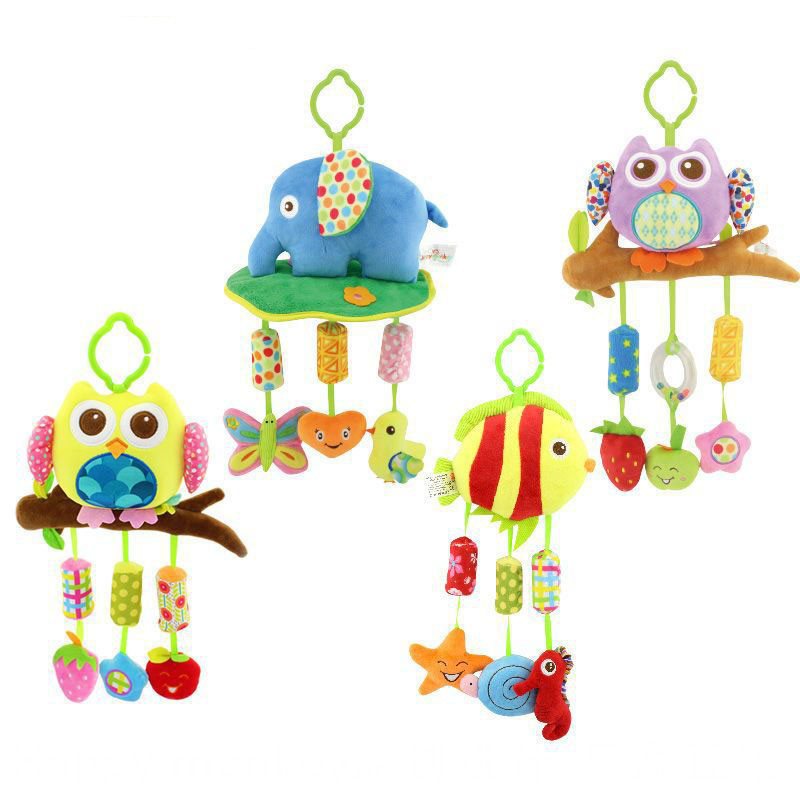 Systematic Baby Rattle Ring Bell Baby Plush Owl Elephant Fish 3 Style Lathe Hanging Musical Baby Toy For Bed Stroller Car G0187 Sophisticated Technologies Toys & Hobbies Baby Rattles & Mobiles