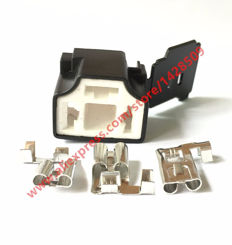 20 Sets 3 Pin 7 8 H4 2B Ceramic Car Connector H4 Auto Light Lamp Holder