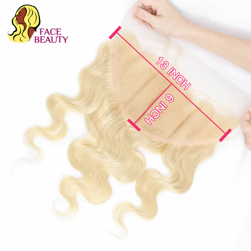 Facebeauty 13x6 Ear To Ear Lace Frontal Closure Brazilian Body Wave 13*6 Lace Frontal Blonde 613 Remy Human Hair Free Shipping