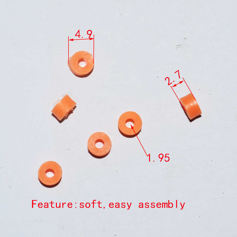 100/1000/10000pcs soft 2A plastic flexible sleeve for 2mm axle plastic gasket washer DIY toy accessorie science model parts