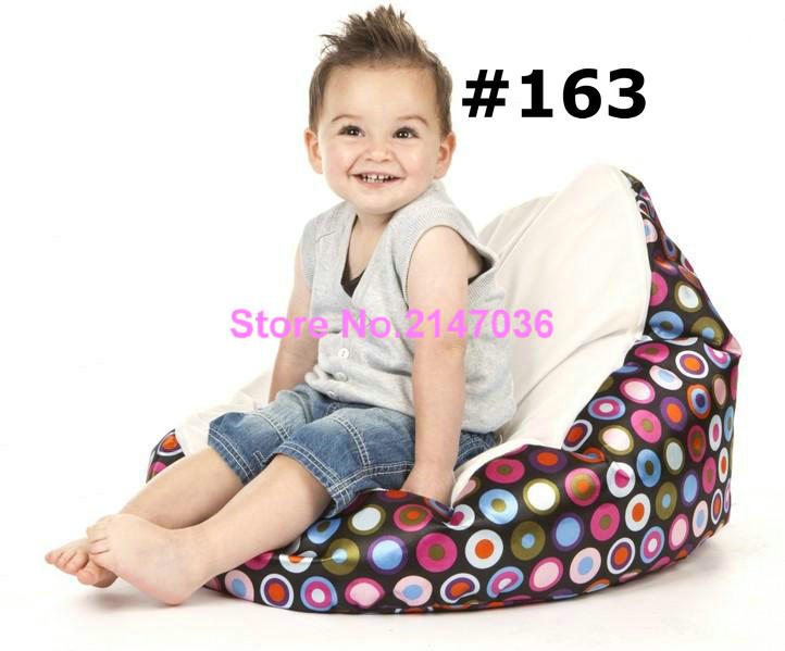 Cream bubbles Original waterproof baby bean bag chair with harness