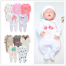 2019 Kavkas Baby Girl Roupa De Bebe Newborn Full Sleeve 3m 6m 9m 12m Infant Girl Rompers New Born Clothes Bebek Giyim Jumpsuits