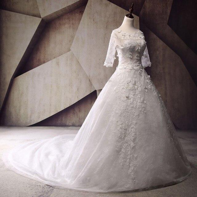 New Style Plus Size Princess Wedding Dresses 2017 Vestido De Noiva 3