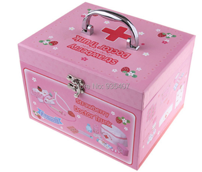 New wooden toy strawberry doctor trunk Baby toy Free Shipping