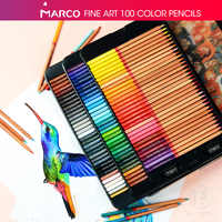 Andstal 24/36/48/72/100 Colors Marco Renoir Professional Fine Artist Oil Color Pencil Set drawing sketch Colour colored pencils