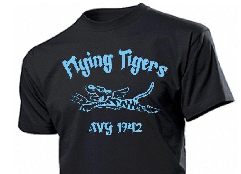 2018 summer New Brand Clothing T Shirts Short Sleeve Hipster Tee Shirt Flying Tigers Avg China 1942 Airforce Pilots T Shirt
