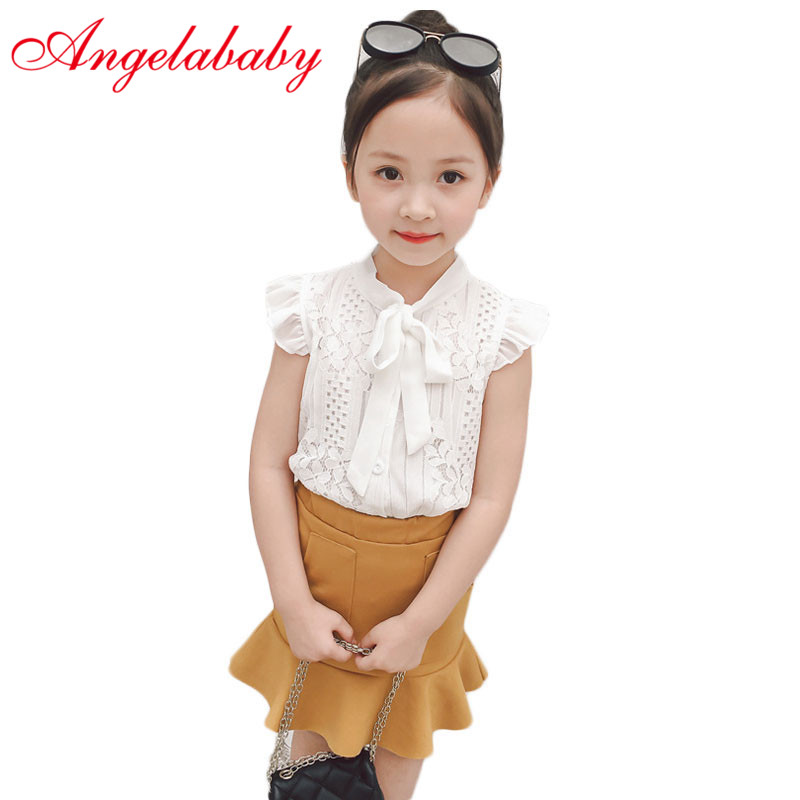 Childrens Wear Suit New 2019 Han Edition Dress Lace Short-sleeved Summer Lotus Leaf outfit exquisite fashion Childrens Wear Suit New 2019 Han Edition Dress Lace Short-sleeved Summer Lotus Leaf outfit exquisite fashion