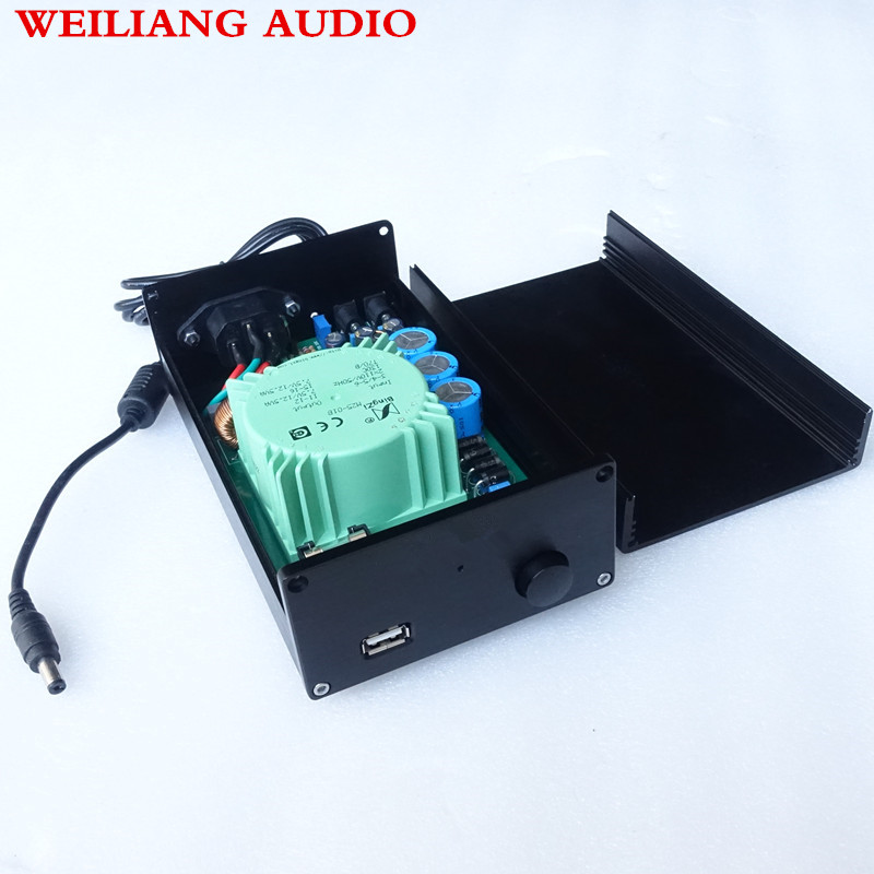 USB out DC 5V/9V/12V/15V AC110V/220V 25VA HIFI linear power supply