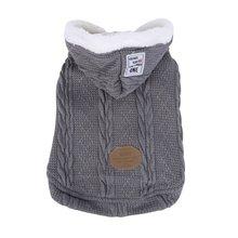 Осенне-зимняя одежда для собак, теплая вязаная акриловая куртка для собак, спортивная одежда для щенков, одежда с капюшоном для маленьких и средних собак