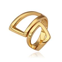 Hohe Qualität Einfaches Design Kleid Geometrische Ring Zubehör Vergoldet Schmuck Cocktail Ringe Für Frauen Weibliche Bijour 2015