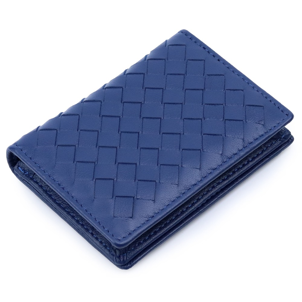 New Arrivals Premium Hand Made Soft Sheep Skin Knitting Card Wallets 2019 Brand Genuine Leather Brand Business Card Holders