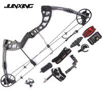 Compound Bow 2 Color 30 70lbs Archery Compound Bow Set Aluminum Alloy with Bow Accessories for Outdoor Hunting Shooting