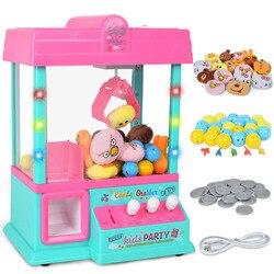26*16*36 см детский мини-кран для игровых автоматов машина захват игрушечный куклы конфеты игровой автомат с монетами с капсулой шары-головоло...