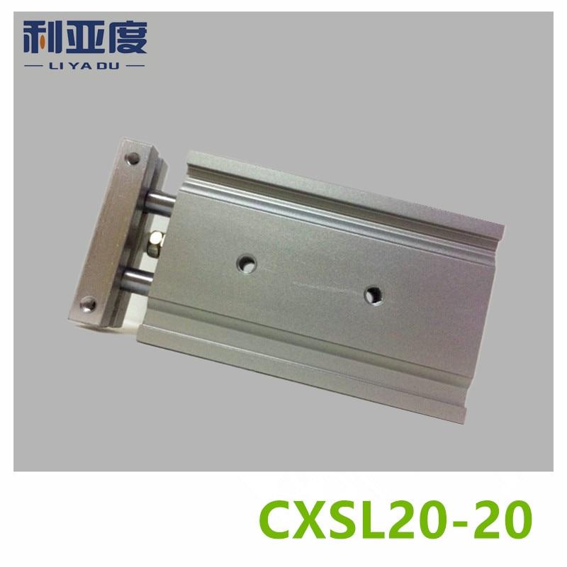 CXSL20-20 Duplex double bar cylinder ball bearings Pneumatic components CXSL20X20 20mm bore 20mm strokeCXSL20-20 Duplex double bar cylinder ball bearings Pneumatic components CXSL20X20 20mm bore 20mm stroke