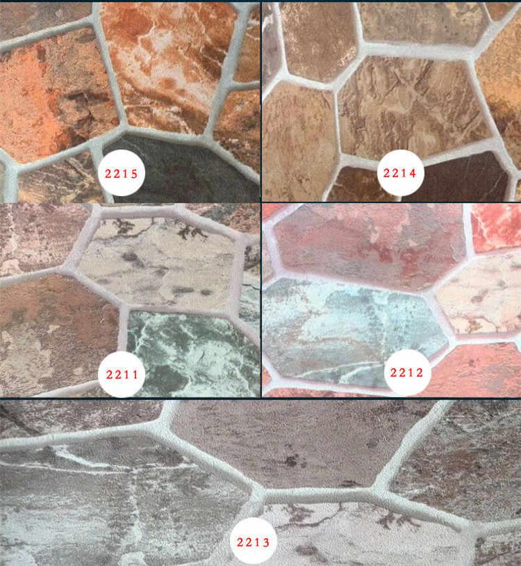 Gruby winyl Vintage rustykalny 3D teksturowany efekt ułożony kamień tapeta rolka retro rock tapeta wodoodporna i zmywalna 10M