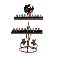 Mordoa Wrought Iron Roses Style Display Shelf Ring Display Shelf Earring Display Shelf Jewelry Display Shelf