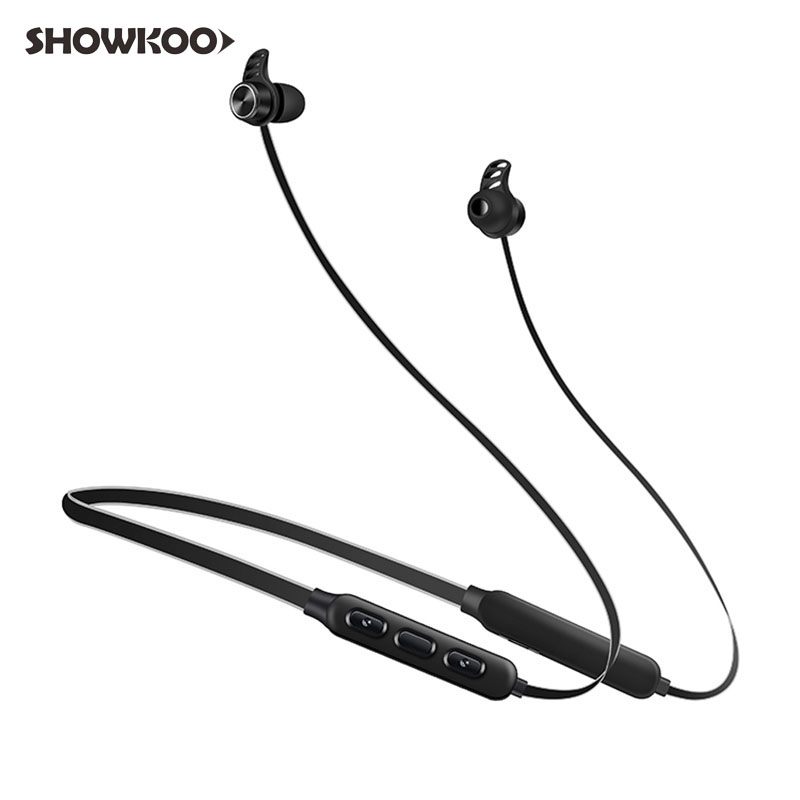 Showkoo Bullet Headphones Earphones Bluetooth Headset for Smartphone CSR Noise Canceling Wireless Ear Headphone Fone De Ouvido anc wireless bluetooth headphones active noise cancelling folable headset with rotal design over ear headphone fone de ouvido