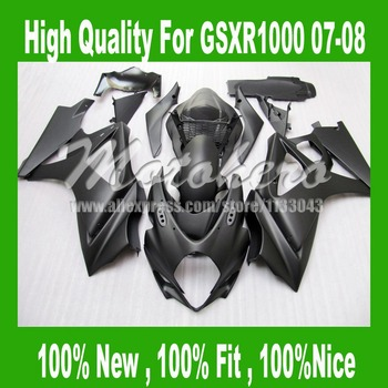 Matte black Fairing For K7 SUZUKI GSXR 1000 K7 07 08 GSX R1000 GSX-R1000 2007 2008 GSXR1000 07 08 fairing kits #FF449C