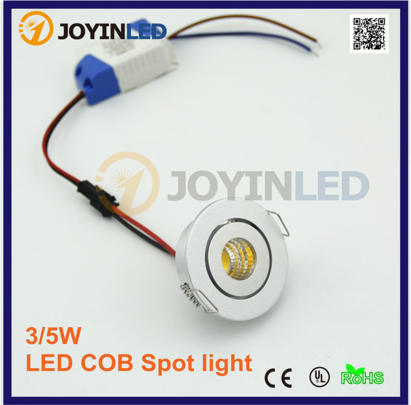 CE ROSH Round Liten Mini Innfelt Tak 3W Led COB Downlights For Cabinet