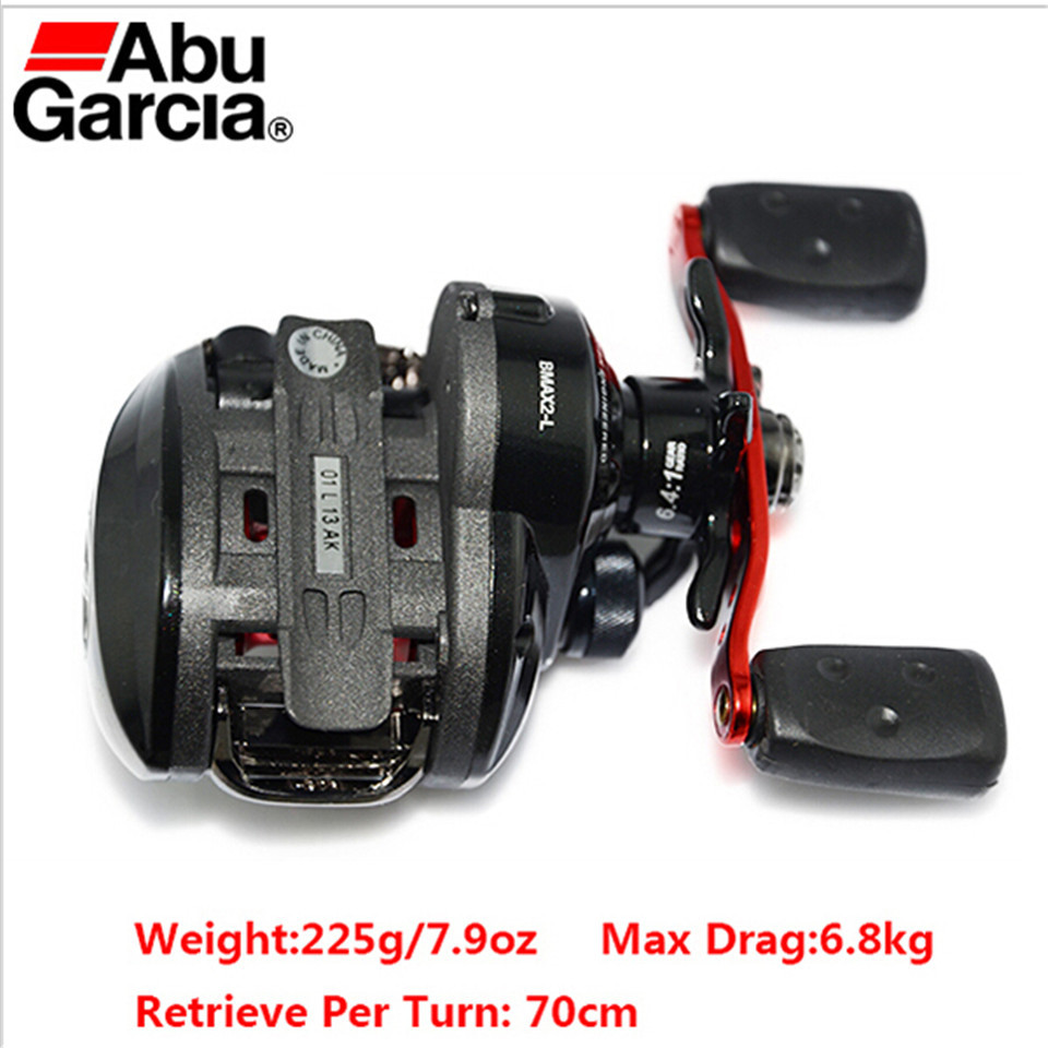 Left Hand Winter Abu Garcia Fishing Reel Baitcasting Black Water Drop Wheel Trolling Lure Fishing Reels 5BB 6.4:1 Hot Sale
