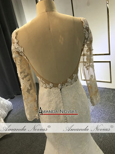 Image 4 - Vestido de noiva simples laço sereia vestido de casamento 2019