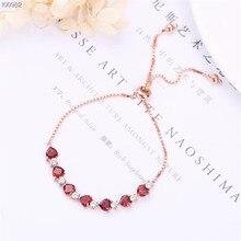 цена gemstone jewelry manufacturer wholesale trendy 925 sterling silver natural red garnet charm adjustable beaded bracelet for women онлайн в 2017 году