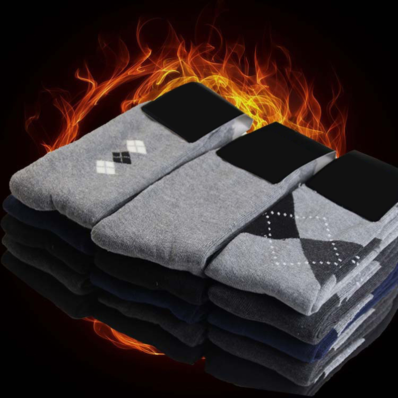 2Pair Men Socks Colorful Geometric Chaussettes Homme Lot Calsetines Hombre Happy Socks Men Winter Thermal Socks Art Meias