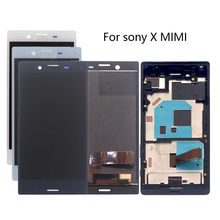 Alta calidad para SONY X MINI marco LCD pantalla digitalizador asamblea para Sony Xperia X Compact F5321 pantalla accesorio de