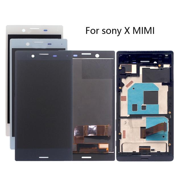 Yüksek kaliteli SONY X MINI çerçeveli lcd ekran digitizer için SONY için montaj Xperia X Kompakt F5321 ekran aksesuar yedek