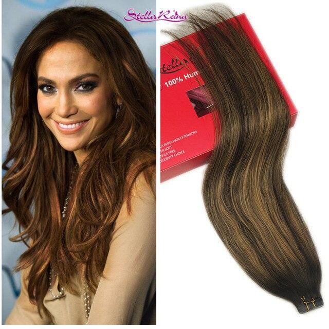 Stella Reina Brazilian Hair 8a Ombre Balayage Hair Weave 1pc Dark