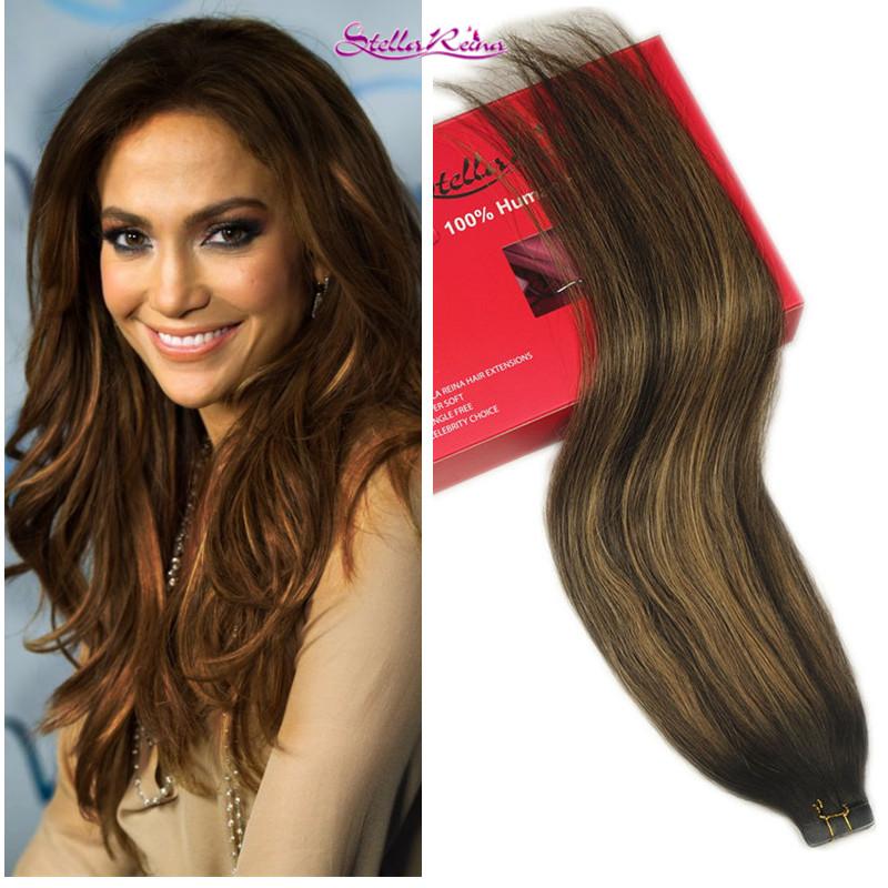 stella reina cheveux brsiliens 8a ombre balayage cheveux armure 1 pc brun fonc avec des reflets - Coloration Caramel Fonc
