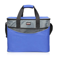 34L Extra Large Thickening Cooler Bag 600D Oxford Ice Pack Insulated Lunch Bag Cold Storage