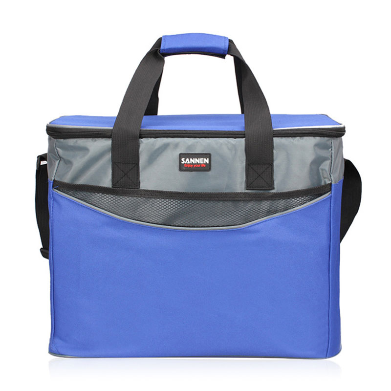 34L Extra Large Thickening Cooler Bag 600D Oxford Ice Pack Insulated Lunch Bag Cold Storage Bags Fresh Food Picnic Container