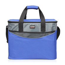 34L ekstra büyük kalınlaşma soğutucu çanta 600D Oxford buz paketi yalıtımlı öğle yemeği çantası soğuk depolama çanta taze gıda piknik konteyner