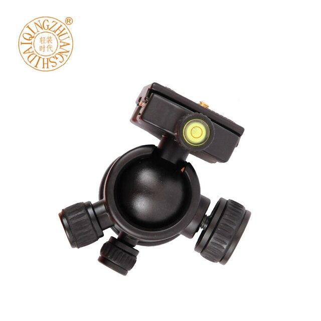 """جديد QZSD Q02 كاميرا كرة ثلاثية الرأس Ballhead مع لوحة الإفراج السريع 1/4 """"المسمار الأصلي Q999 Q666 ترايبود رئيس ماكس تحميل 8 كجم"""