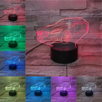 RGB Night Light Sedan 3D Lamp LED Flashlight Table Lamp Creative Gifts for Kids Bedroom Decor Car Shop Decoration Present Lights image