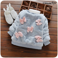 Winter Newborn Baby Girl Clothes Korean Casual Bunnies Kids Hooded Fashion Baby Sweatshirts Infantil Autumn Clothing