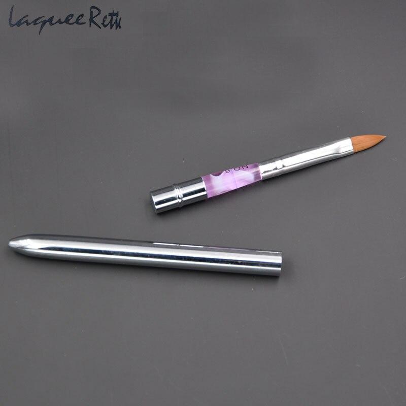 Кисти для маникюра и педикюра, фиолетовые кисти для ногтей с натуральными животными, 4 модели на выбор
