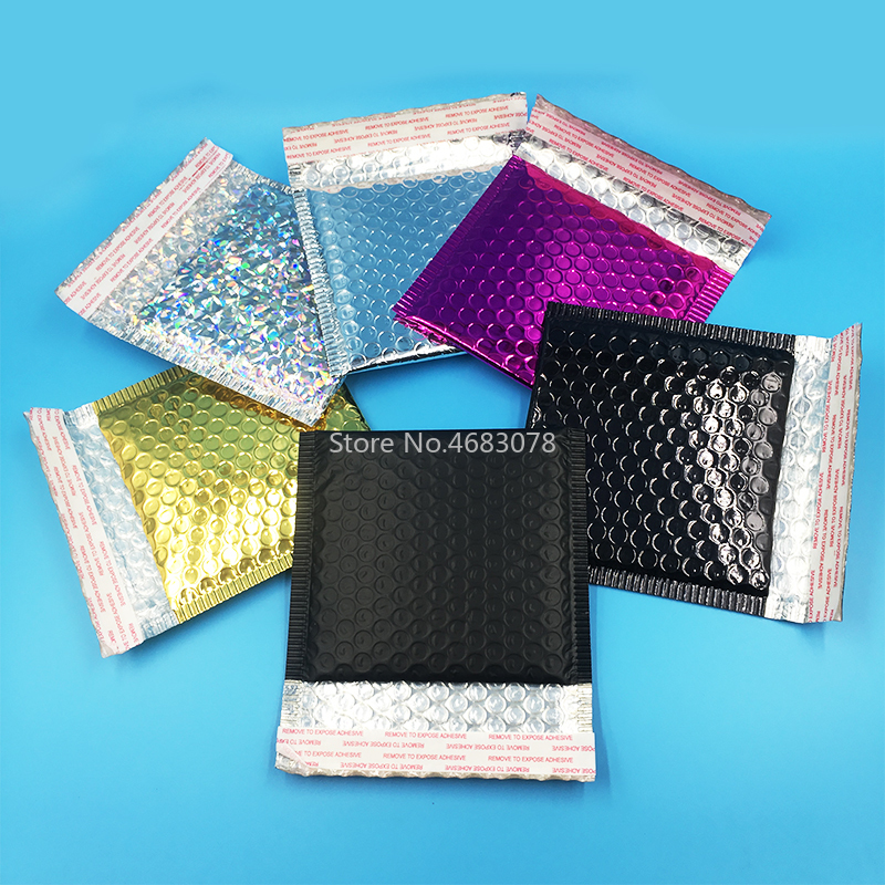50pcs/lot Bubble Envelopes Bags Mailers Padded Shipping Envelope With Bubble Mailing Bag Business Supplies 15*13cm+4cm(China)