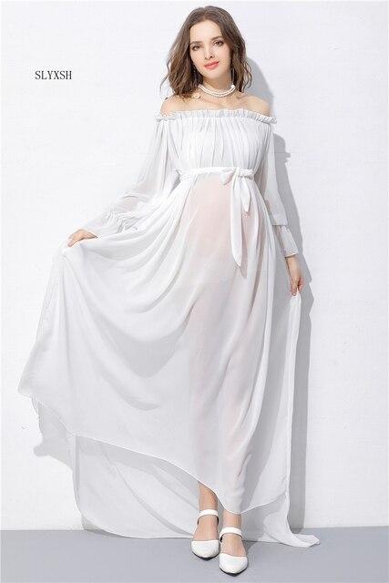 56380156d9165 جديد أزياء فستان الأمومة التصوير الدعائم القطن ملابس الحمل ملابس الأمومة فساتين  للحوامل الصور