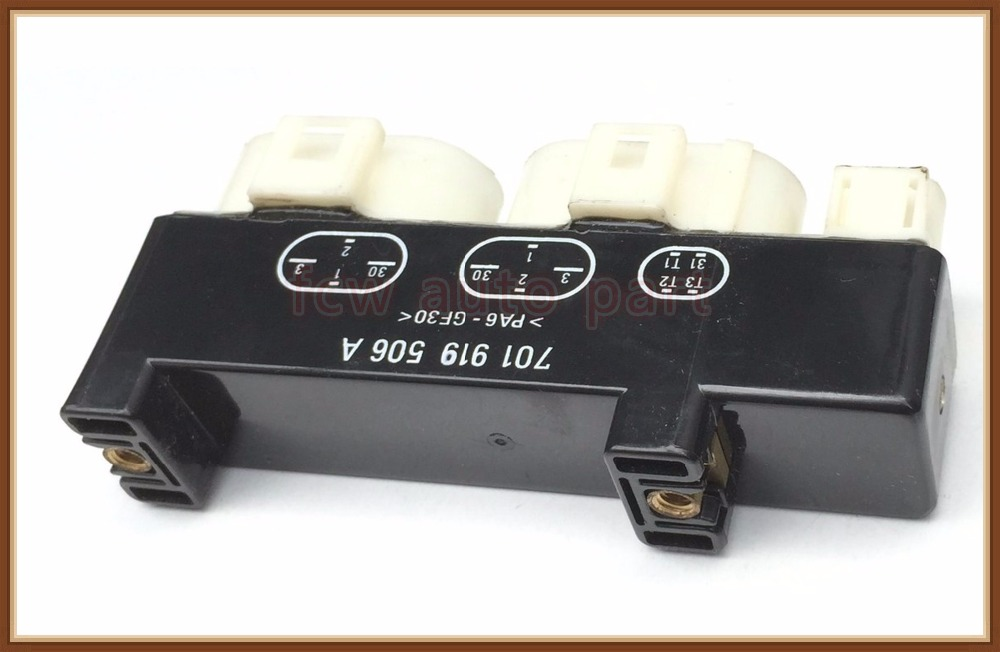 fast shipping Cooling Fan Control Relay Switch Module 701919506A 701 919 506 A for VW EuroVan Sharan Transporter Seat Alhambra